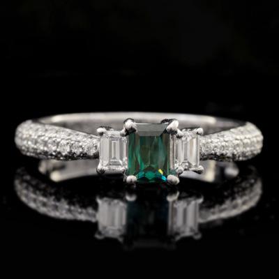 稀少石 Pt900 0.32ctグランディディエライト ダイヤモンド リング