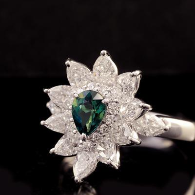 稀少石 Pt900 0.529ctグランディディエライト ダイヤモンド リング