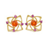 「庭園」 VILLANDRY Fire Opal×Pink Sapphire pierced earring 「ヴィランドリー」ファイヤーオパール×ピンクサファイア ピアス