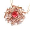 「庭園」 VILLANDRY Spinel×Rosecut Diamond pendant 「ヴィランドリー」ピンクスピネル×ローズカットダイヤ ペンダント(チェーン付)