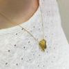 「庭園」 CHANTILLY Andalusite×Cognac Diamond×Rosecut Diamond pendant 「シャンティイ」アンダリューサイト×コニャックダイヤ×ローズカットダイヤ ペンダントトップ(チェーン別売)