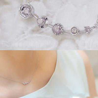 数量限定 スチールダイヤモンドネックレス「kaleido カレイド」