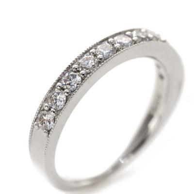 プラチナ900製 0.5ctダイヤモンドリング「煌きクラシカル」