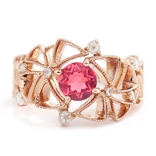 「庭園」 VILLANDRY Spinel×Rosecut Diamond ring 「ヴィランドリー」ピンクスピネル×ローズカットダイヤ リング