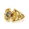 「庭園」 CHANTILLY Andalusite×Cognac Diamond×Rosecut Diamond ring 「シャンティイ」アンダリューサイト×コニャックダイヤ×ローズカットダイヤ リング