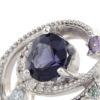 GINGA Spinel×Diamond ring 「銀河」スピネル×アイスブルーダイヤ×ダイヤモンド リング