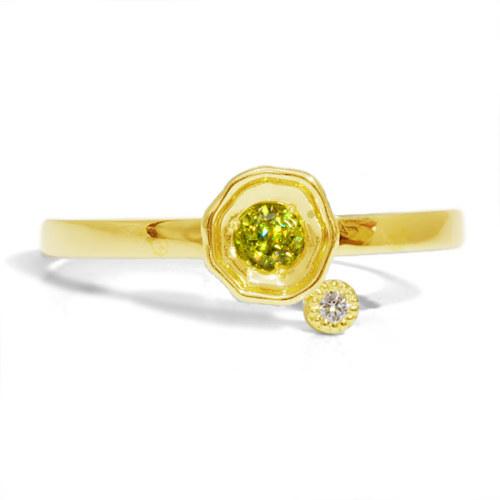 MYTHOS series HIKARI Sphene×Diamond ring 「光」スフェーン×ダイヤモンド リング