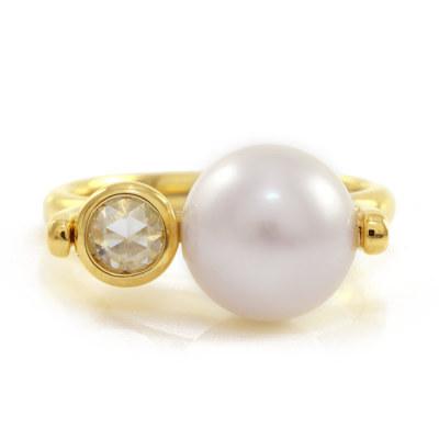 アコヤ 真珠 ダイヤ リング