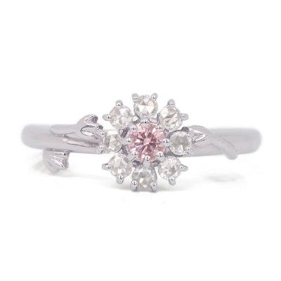 ピンクダイヤモンド リング